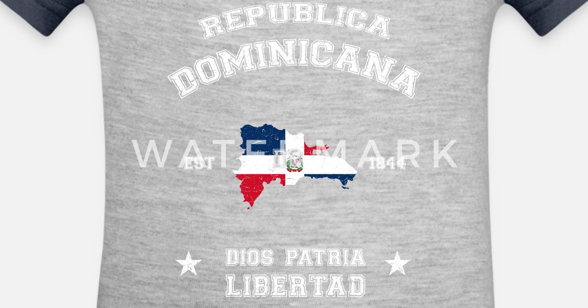 9314c9bf75 Dominican Republic vintage map Contrast Baby Bodysuit