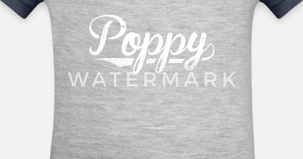 Poppy Happy Birthday Grandpa Gifts Shirt Contrast Baby Bodysuit