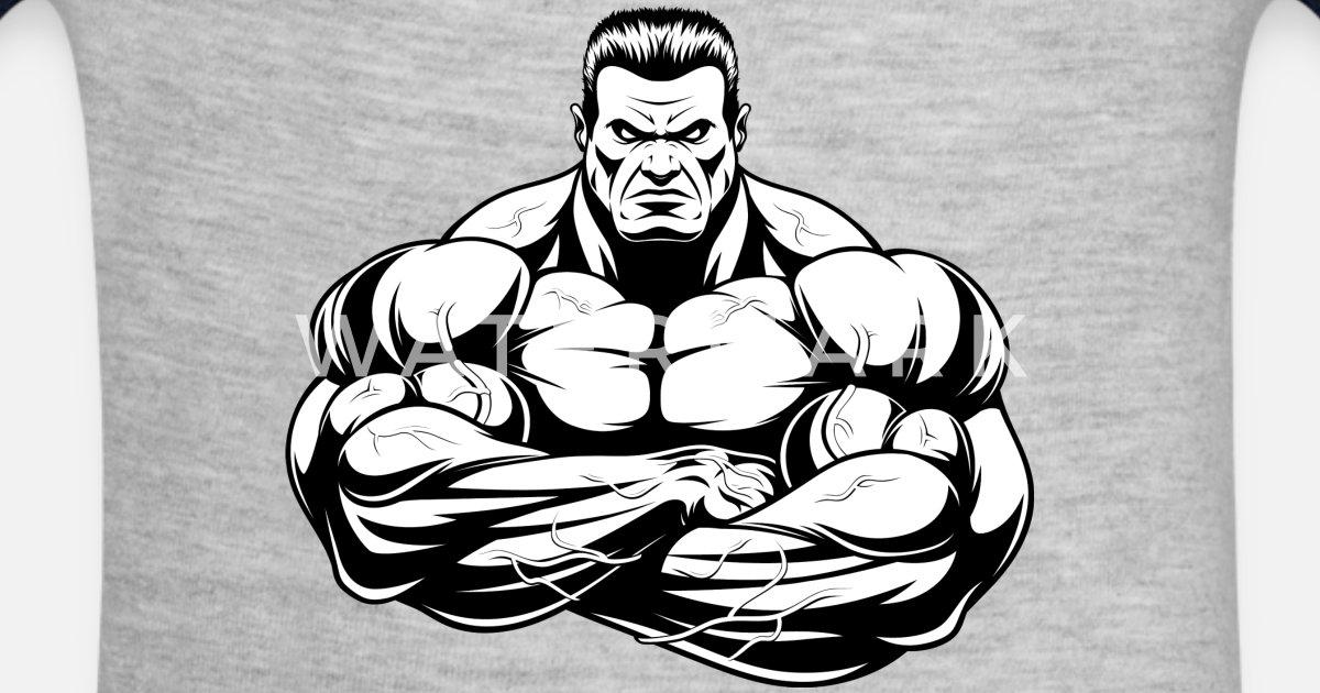 Strongman Bodybuilder Sport Muscles Shape Vector By Andriy