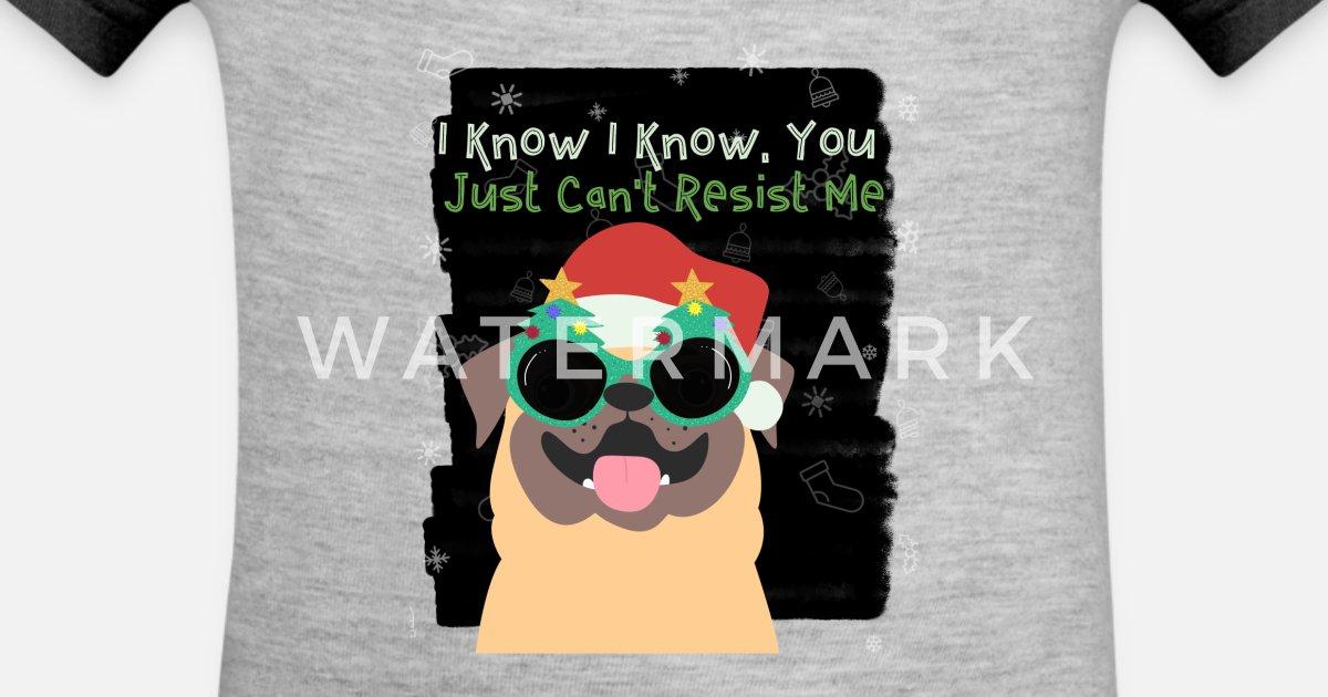 b9c780f92ec92 Funny Dog Wearing Christmas Glasses And Santa Hat Contrast Baby Bodysuit