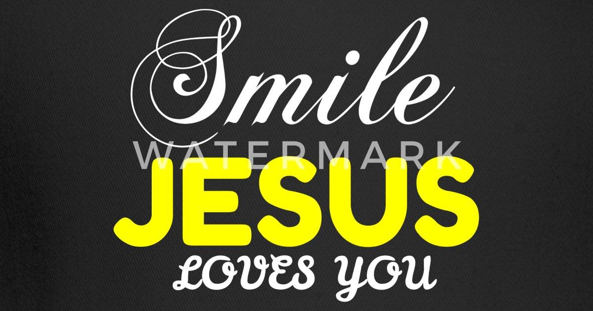 SMILE JESUS LOVES YOU Trucker Cap | Spreadshirt