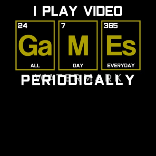 Games Periodic Table Chemistry Elements by | Spreadshirt