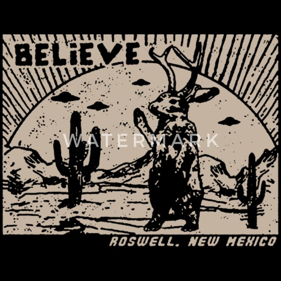 5f4270db Roswell Jackalope T Shirt New Mexico Shirt UFO T S - Trucker Cap. Front.  Design