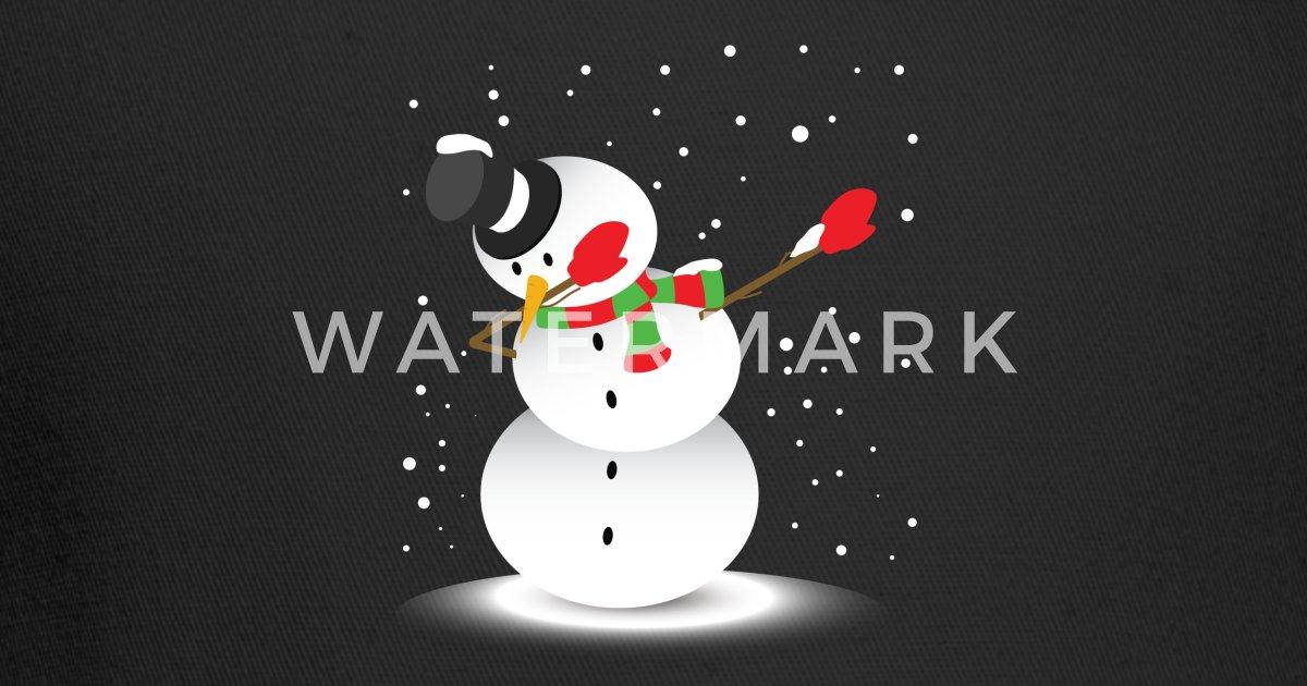 0f74256a6 Funny Dabbing Snowman T-Shirt Christmas Winter Gif Trucker Cap   Spreadshirt