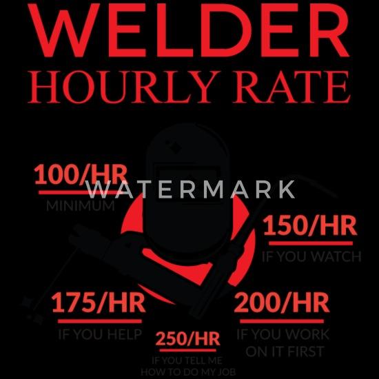 Funny Welder product Hourly Rate Welding Trucker Cap   Spreadshirt