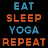Eat Sleep Yoga Repeat Quote - Trucker Cap