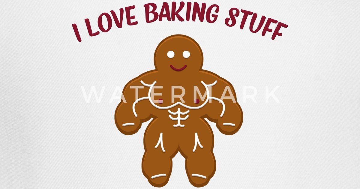 Funny Christmas Bakery Muscle Gingerbread Man Gift Trucker Cap Spreadshirt