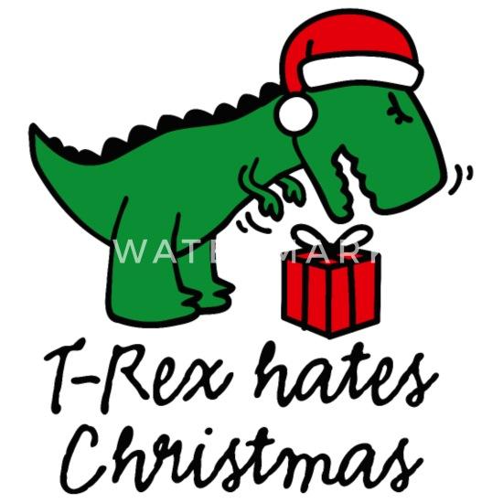 Dinosaur Christmas.T Rex Hates Christmas Ugly Xmas Dinosaur Christmas Trucker Cap White Black