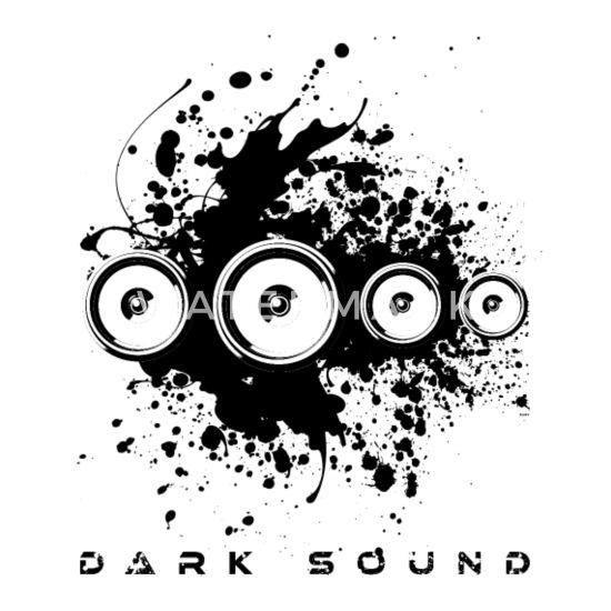 Dark Sound Deep Bass Techno Electronic Music EDM Trucker Cap - white/black