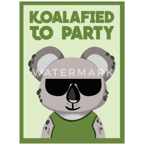 Koalafied To Party Funny Koala Bear Pun Gift By Yeoys Spreadshirt