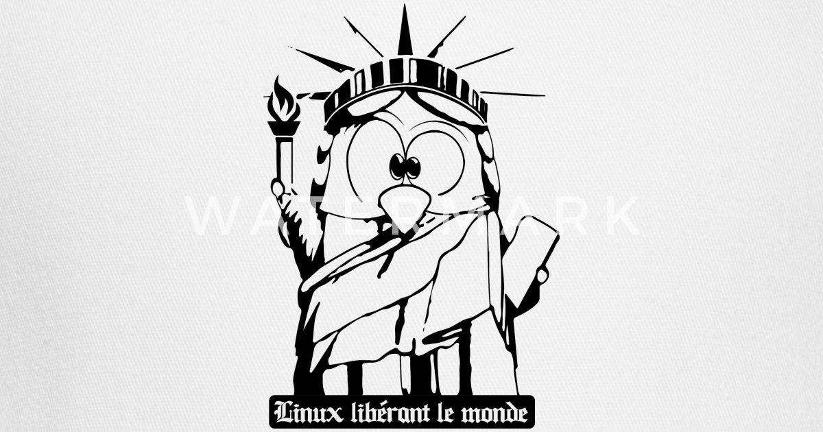 Statue Of Liberty Tux Linux Penguin Freedom Trucker Cap