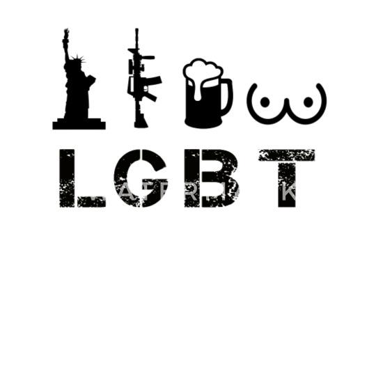 f6ad3252d LGBT-liberty, Guns, Beer and Tits Trucker Cap - white/black