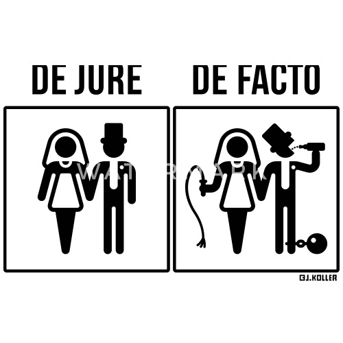 what is the difference between de jure and de facto