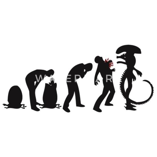Alien Evolution Panoramic Mug | Spreadshirt