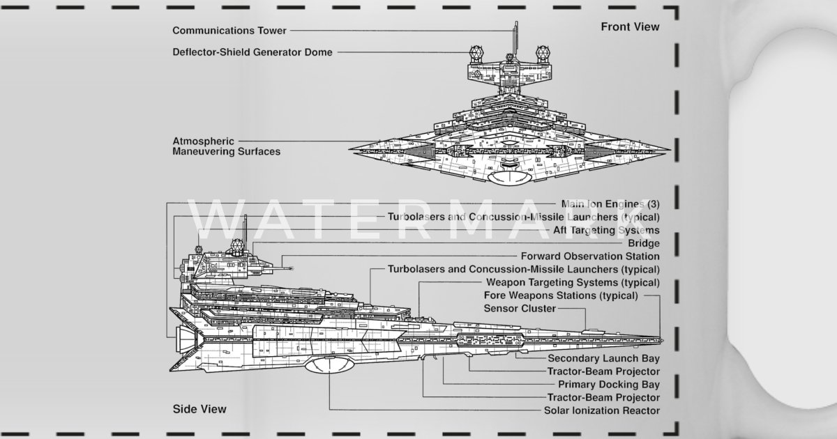 Star Destroyer Diagram By Really Sweet Shirts Spreadshirt