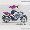 Badass unicorn on a motorcycle - Panoramic Mug