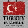 Turkey Flag - Vintage Look - Colorblock Hoodie
