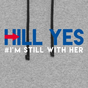 Hill Yes (Hillary Clinton) - Colorblock Hoodie