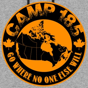 Camp 185 Map of Canada quot Go Where No One Else - Colorblock Hoodie