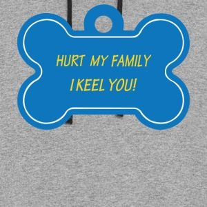 Hurt My Family I Keel You - Colorblock Hoodie