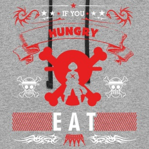 LUFFY HUNGRY QUOTE - Colorblock Hoodie