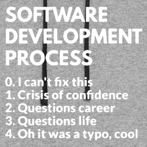 Software Development Process Shirt - Colorblock Hoodie