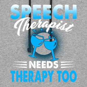 Speech Therapist Shirt - Colorblock Hoodie
