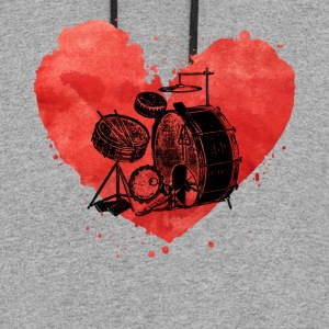 Drum Set Tee Shirt - Colorblock Hoodie