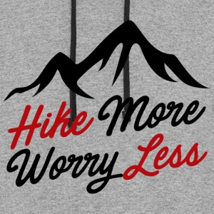 hike more worry less - Colorblock Hoodie