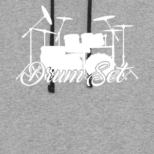 Drum Set Shirts - Colorblock Hoodie