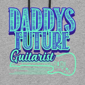 DADDYS FUTURE GUITARIST SHIRT - Colorblock Hoodie