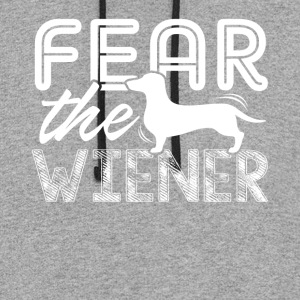 FEAR THE WIENER SHIRT - Colorblock Hoodie