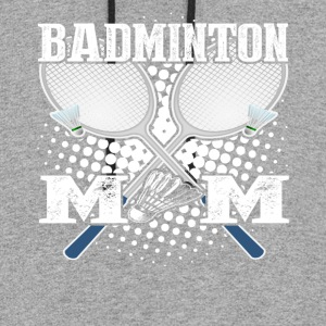 BADMINTON MOM SHIRT - Colorblock Hoodie