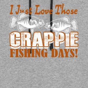 CRAPPIE FISHING DAY SHIRT - Colorblock Hoodie