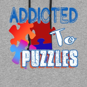 ADDICTED TO PUZZLE SHIRT - Colorblock Hoodie