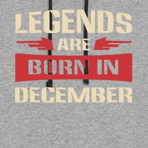 Legends are born in December - Colorblock Hoodie
