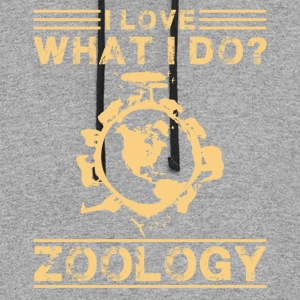 I Love What I Do Zoology Shirt - Colorblock Hoodie
