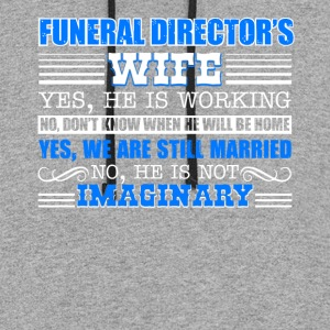 Funeral Director Wife Shirt - Colorblock Hoodie