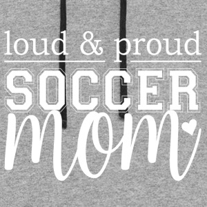 Soccer Mom - Loud & Proud - Colorblock Hoodie