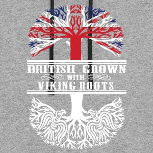 British grown with viking roots - Colorblock Hoodie