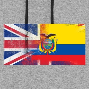 British Ecuadorian Half Ecuador Half UK Flag - Colorblock Hoodie