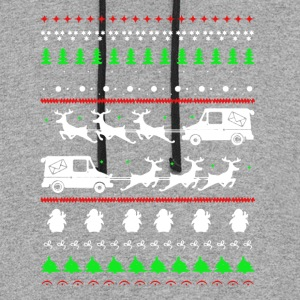 Postal Worker Christmas Shirts - Colorblock Hoodie