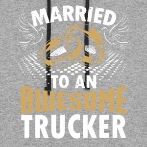 Married To An Awesome Trucker - Colorblock Hoodie