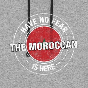 Have No Fear The Moroccan Is Here Shirt - Colorblock Hoodie