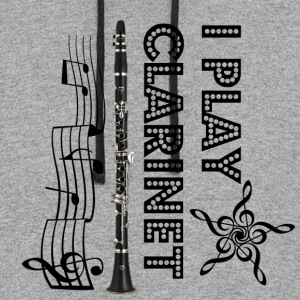 i play clarinet - Colorblock Hoodie