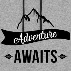 Adventure-awaits-travel-trip-journey-vacation-trip - Colorblock Hoodie