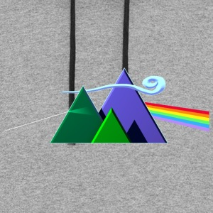 Dark Side Of The Mountains - Colorblock Hoodie
