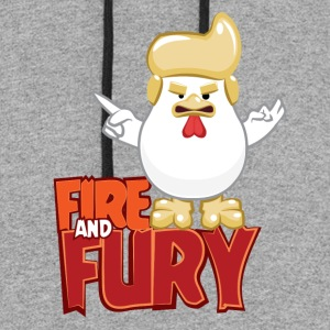 Fire and fury - Chicken Trump - Colorblock Hoodie