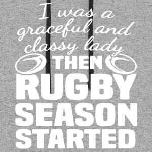 i was a graceful and classy lady then rugby season - Colorblock Hoodie