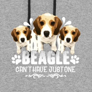 BEAGLE CANT HAVE JUST ONE CARD NEW SHIRTS - Colorblock Hoodie